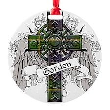 Gordon Tartan Cross Ornament