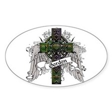 Gordon Tartan Cross Decal