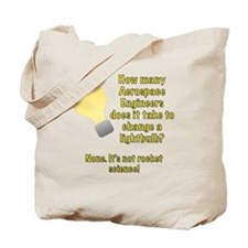 Aerospace Engineer Lightbulb Joke Tote Bag