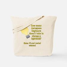 Aerospace Engineer Lightbulb Joke Tote Bag
