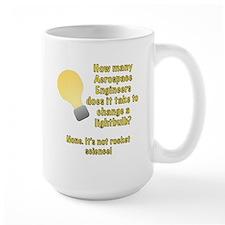 Aerospace Engineer Lightbulb Joke Mug