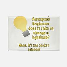 Aerospace Engineer Lightbulb Joke Rectangle Magnet