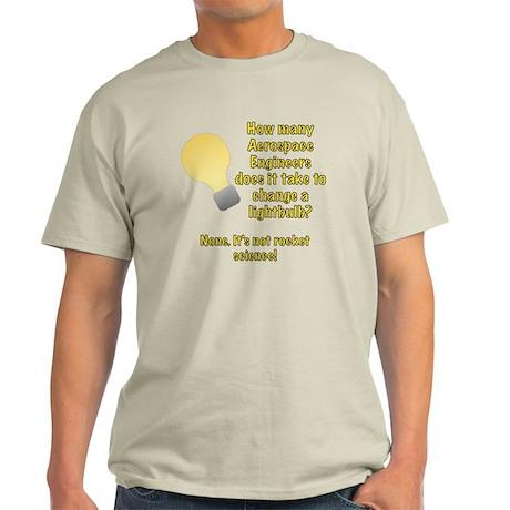 Aerospace Engineer Lightbulb Joke Light T-Shirt