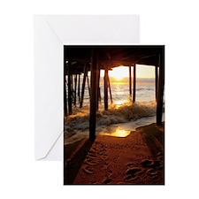 Pier Sunrise.jpg Greeting Card