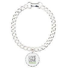 Live Love Poodles Bracelet