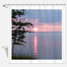 Sunset Lake Superior Shower Curtain