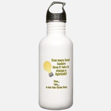 Band leader lightbulb joke Water Bottle