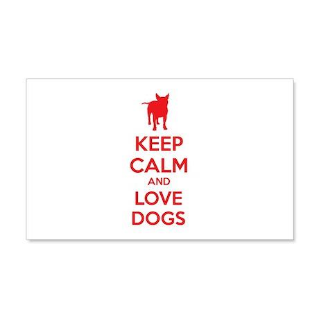 Keep calm and love dogs 22x14 Wall Peel