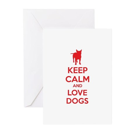 Keep calm and love dogs Greeting Cards (Pk of 10)