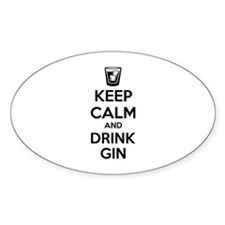 Keep calm and drink gin Decal