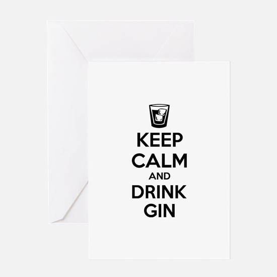 Keep calm and drink gin Greeting Card