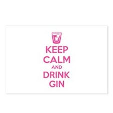 Keep calm and drink gin Postcards (Package of 8)