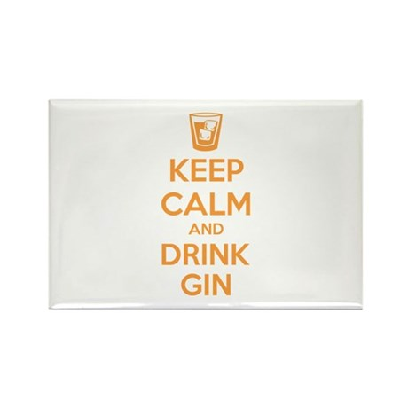 Keep calm and drink gin Rectangle Magnet (10 pack)