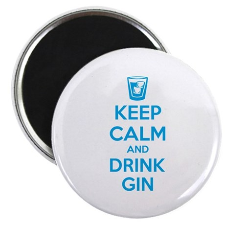 """Keep calm and drink gin 2.25"""" Magnet (10 pack)"""