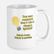 Conductor lightbulb joke Mug