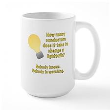 Conductor lightbulb joke Mug