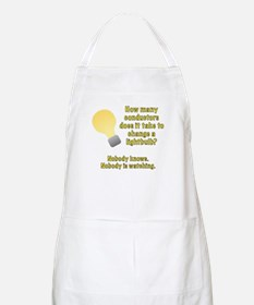 Conductor lightbulb joke Apron