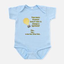 Drummer lightbulb joke Infant Bodysuit