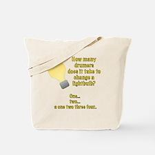 Drummer lightbulb joke Tote Bag