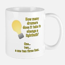Drummer lightbulb joke Mug