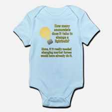 Economist lightbulb joke Infant Bodysuit
