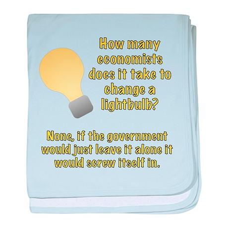 Economist Lightbulb joke baby blanket