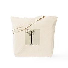 white Tree Tote Bag