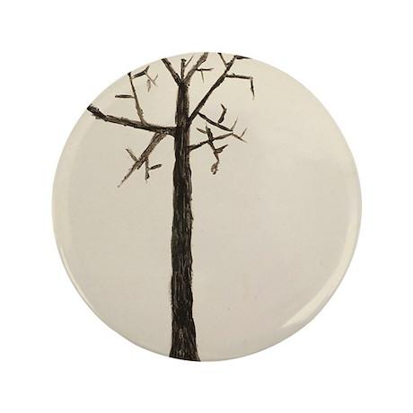 """white Tree 3.5"""" Button"""