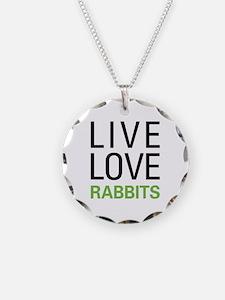 Live Love Rabbits Necklace
