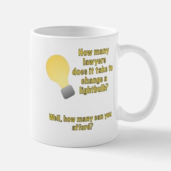 Lawyer lightbulb joke Mug