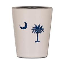 Cute South carolina palmetto tree crescent moon Shot Glass