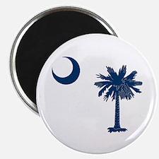 Unique South carolina palmetto tree crescent moon Magnet