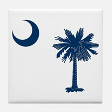 Cool Palmetto tree Tile Coaster