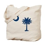 South carolina palmetto tree Canvas Bags
