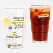 Musician lightbulb joke Drinking Glass