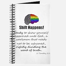 Shift Happens - for light shirts - back Journal