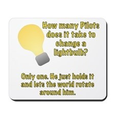 Pilot lightbulb joke Mousepad