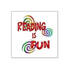 """Reading Fun Square Sticker 3"""" x 3"""""""