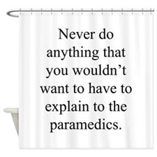 Paramedics Shower Curtain