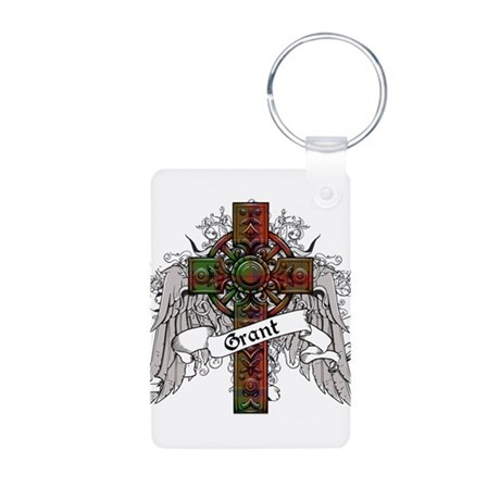 Grant Tartan Cross Aluminum Photo Keychain