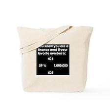 Finance Nerd Tote Bag