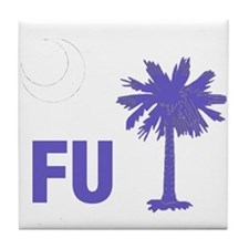 Cool South carolina palmetto tree crescent moon Tile Coaster