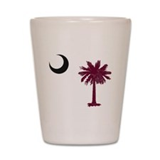 Cool South carolina palmetto tree crescent moon Shot Glass