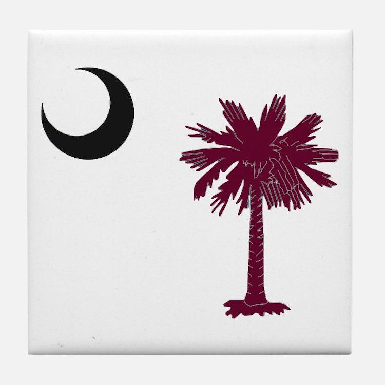Cute Palmetto tree Tile Coaster