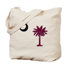 Funny South carolina palmetto tree Tote Bag