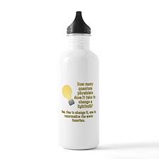 Quantum Physicist lightbulb joke Sports Water Bottle
