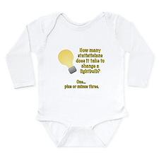 statistician lightbulb joke Long Sleeve Infant Bod