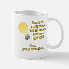 statistician lightbulb joke Mug