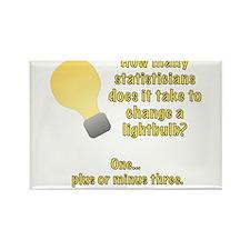 statistician lightbulb joke Rectangle Magnet