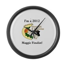 Maggie Finalist Peach Moon Large Wall Clock